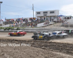 Rattlesnake Raceway, Dennis Buehn leads the charge.