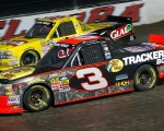 Ty Dillon (3) and Kyle Larson at Eldora during the Mudsummer Classic.