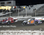 Rattlesnake Raceway - Zach Cail chases Vince Evenson for the lead.