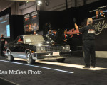 Barrett-Jackson - car is positioned for auction.