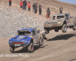 Lucas Oil Off Road Series - Pro 2 winner Bryce Menzies is chased by Rob MacCachren