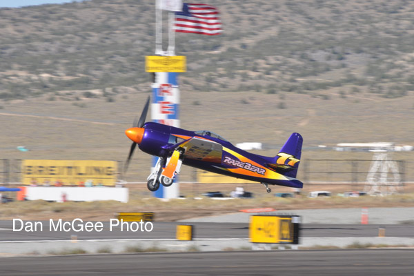 National Championship Air Races - Stewart Dawson takes off in the Bear.