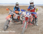 MRANN Wild Horse Hare Scrambles - first and second Austin Serpa (left) and Dan Capparelli.