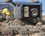 Silver State Rock Crawling Championships - Truck Roll Over.