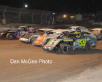 Fernley 95A Speedway - IMCA 4-wide salute to the fans.