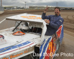 Fernley 95A Speedway - Mike White, IMCA winner.