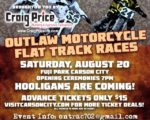 Outlaw Flat Track Races poster.